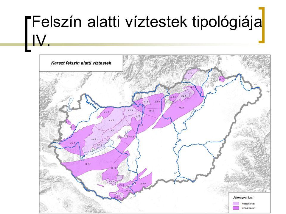 Felszín alatti víztestek tipológiája IV.