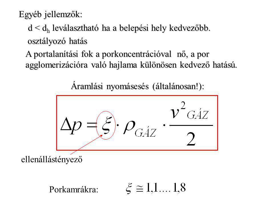 A leválasztás során fellépő erőhatások: a.Centrifugális erő b.