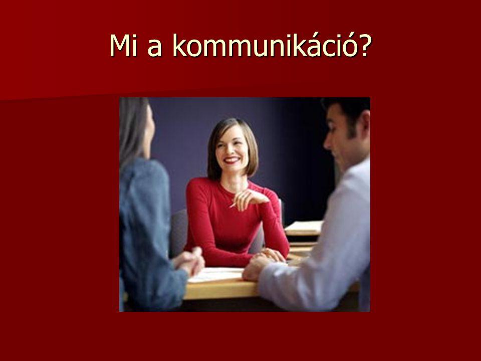 Mi a kommunikáció?
