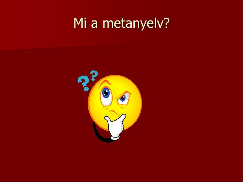 Mi a metanyelv?