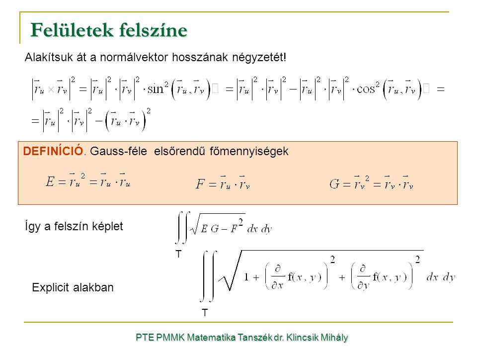 PTE PMMK Matematika Tanszék dr.