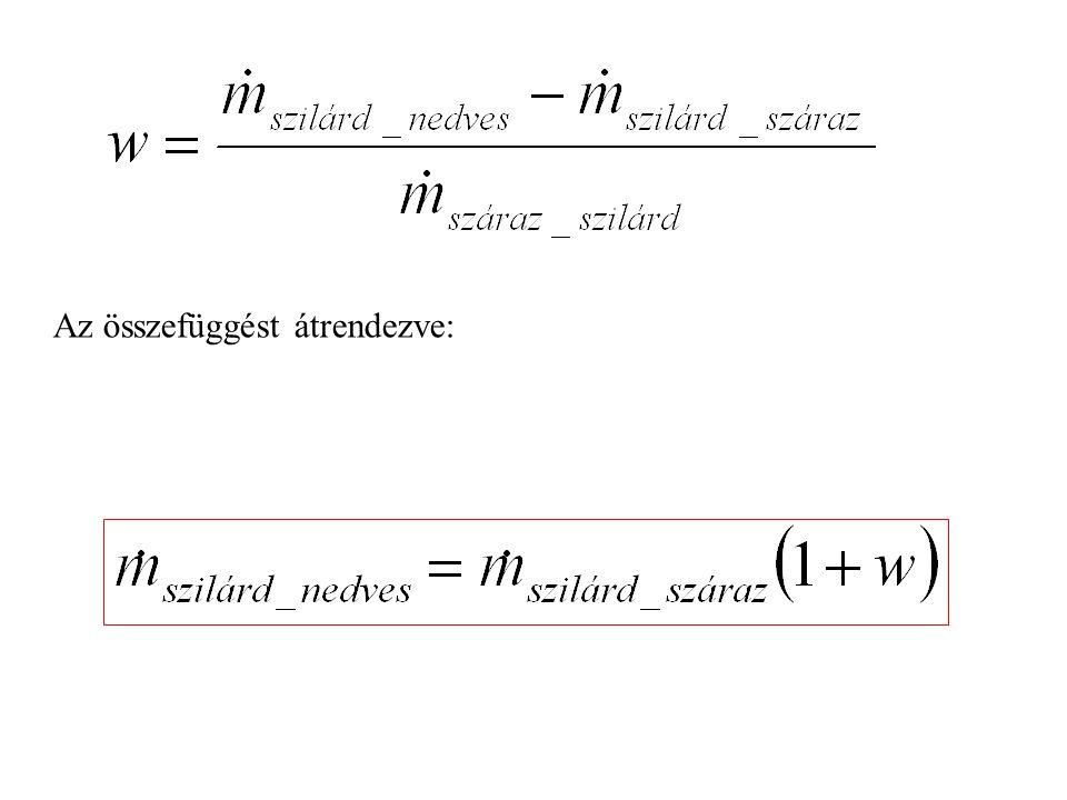 Szorpciós egyensúlyi izotermák, φ ~ w diagram: Esetünkben a nedvesség víz, a kipárolgás vízgőz, => a szárítás a deszorpció speciális esete: φ : a nedves anyaggal érintkező levegő relatív telítettsége, relatív páratartalma p g : a levegő aktuális (mért) parciális gőznyomása p gt : a levegő telítettségéhez tartozó gőznyomás