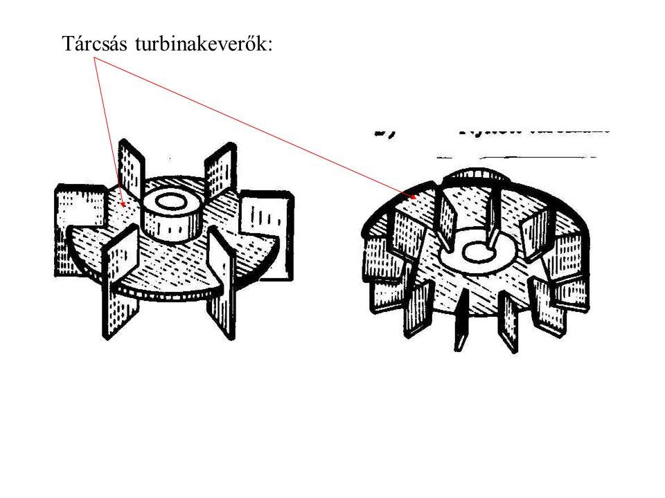 Tárcsás turbinakeverők: