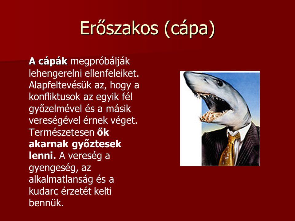 Erőszakos (cápa) A cápák A cápák megpróbálják lehengerelni ellenfeleiket.
