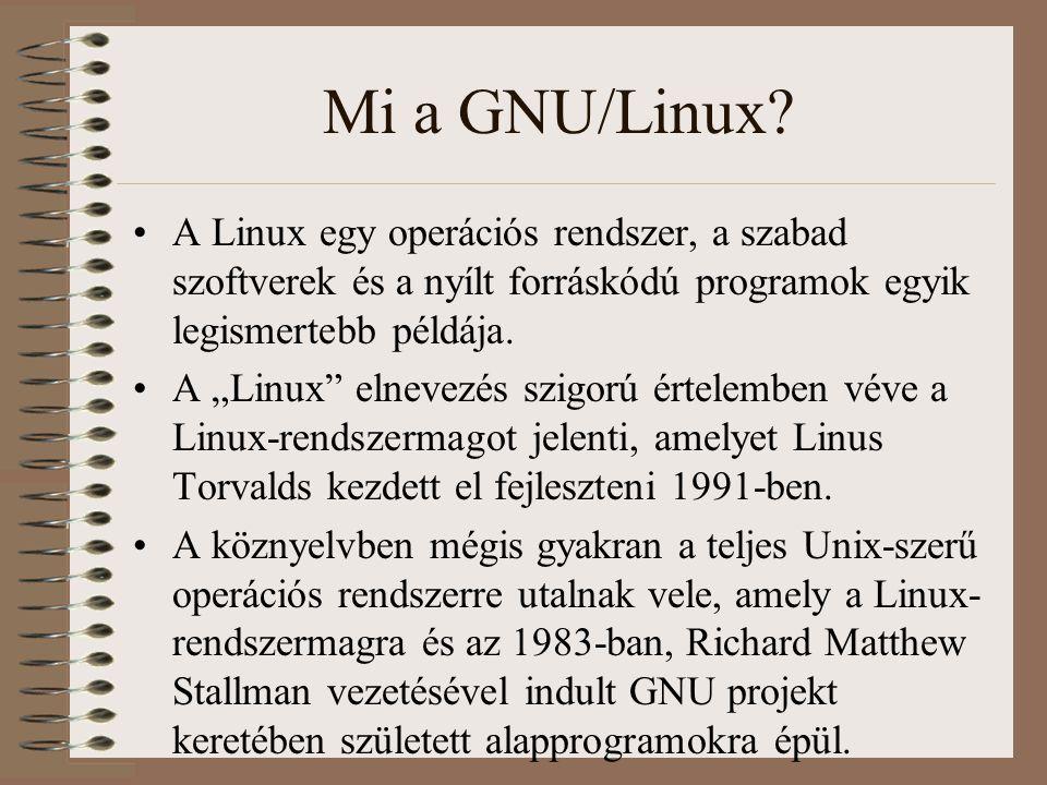 """Mi a GNU/Linux? A Linux egy operációs rendszer, a szabad szoftverek és a nyílt forráskódú programok egyik legismertebb példája. A """"Linux"""" elnevezés sz"""