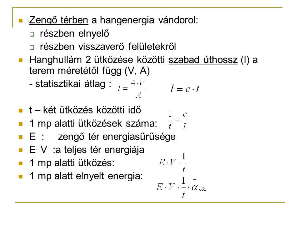 P- a hangforrás hangteljesítménye  Az 1.