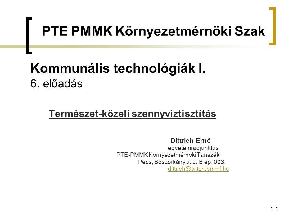 11 Kommunális technológiák I.6.