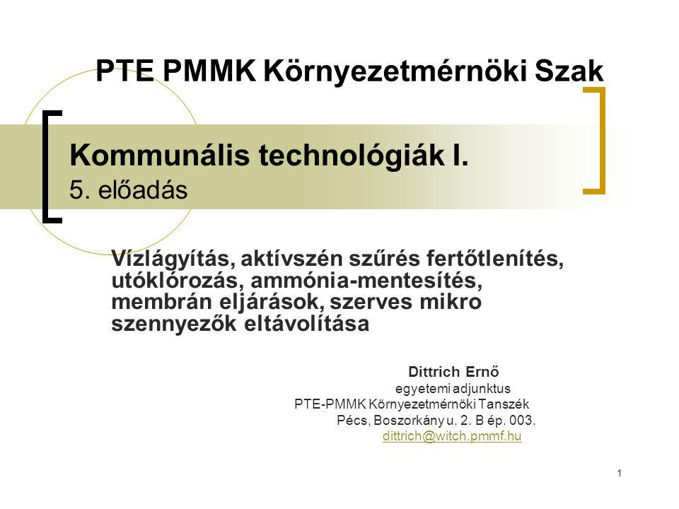 1 Kommunális technológiák I.5.