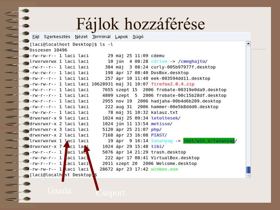 Fájlok hozzáférése Gazda Csoport