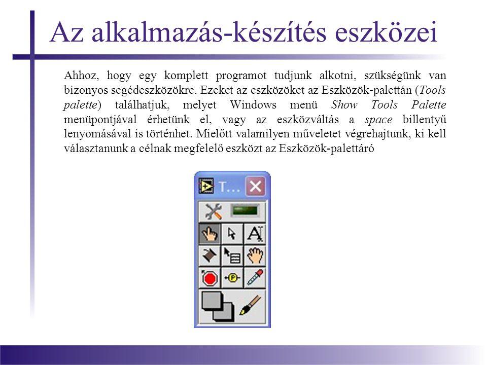 Az alkalmazás-készítés eszközei Ahhoz, hogy egy komplett programot tudjunk alkotni, szükségünk van bizonyos segédeszközökre. Ezeket az eszközöket az E