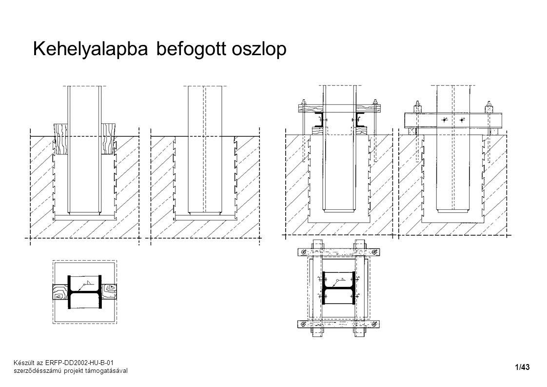 Kehelyalapba befogott oszlop Készült az ERFP-DD2002-HU-B-01 szerződésszámú projekt támogatásával 1/43