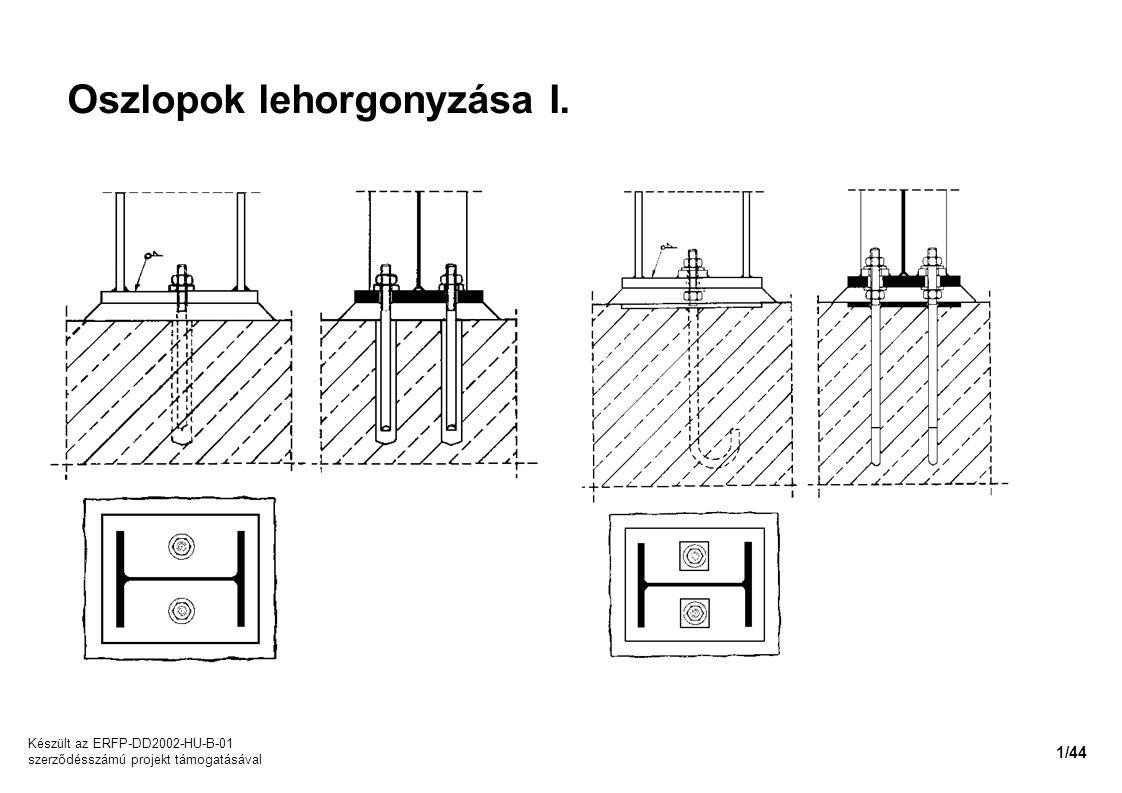 Oszlopok lehorgonyzása I. Készült az ERFP-DD2002-HU-B-01 szerződésszámú projekt támogatásával 1/44