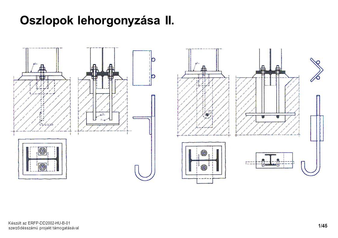 Oszlopok lehorgonyzása II. Készült az ERFP-DD2002-HU-B-01 szerződésszámú projekt támogatásával 1/45