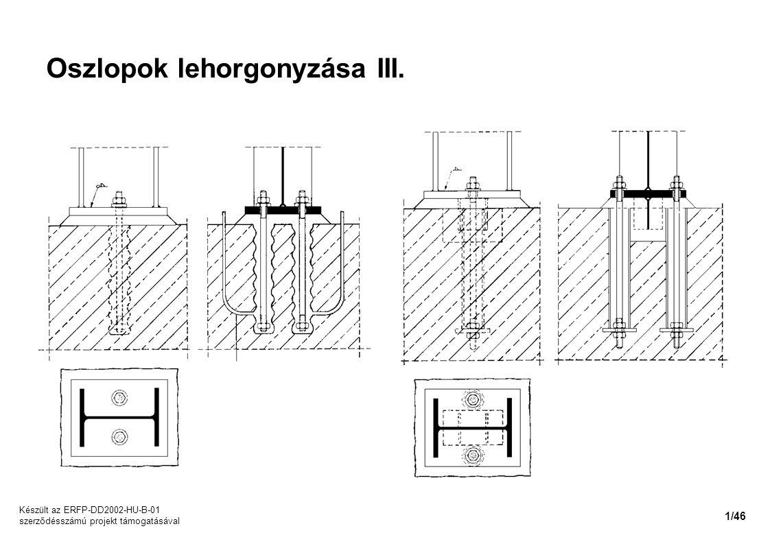Oszlopok lehorgonyzása III. Készült az ERFP-DD2002-HU-B-01 szerződésszámú projekt támogatásával 1/46