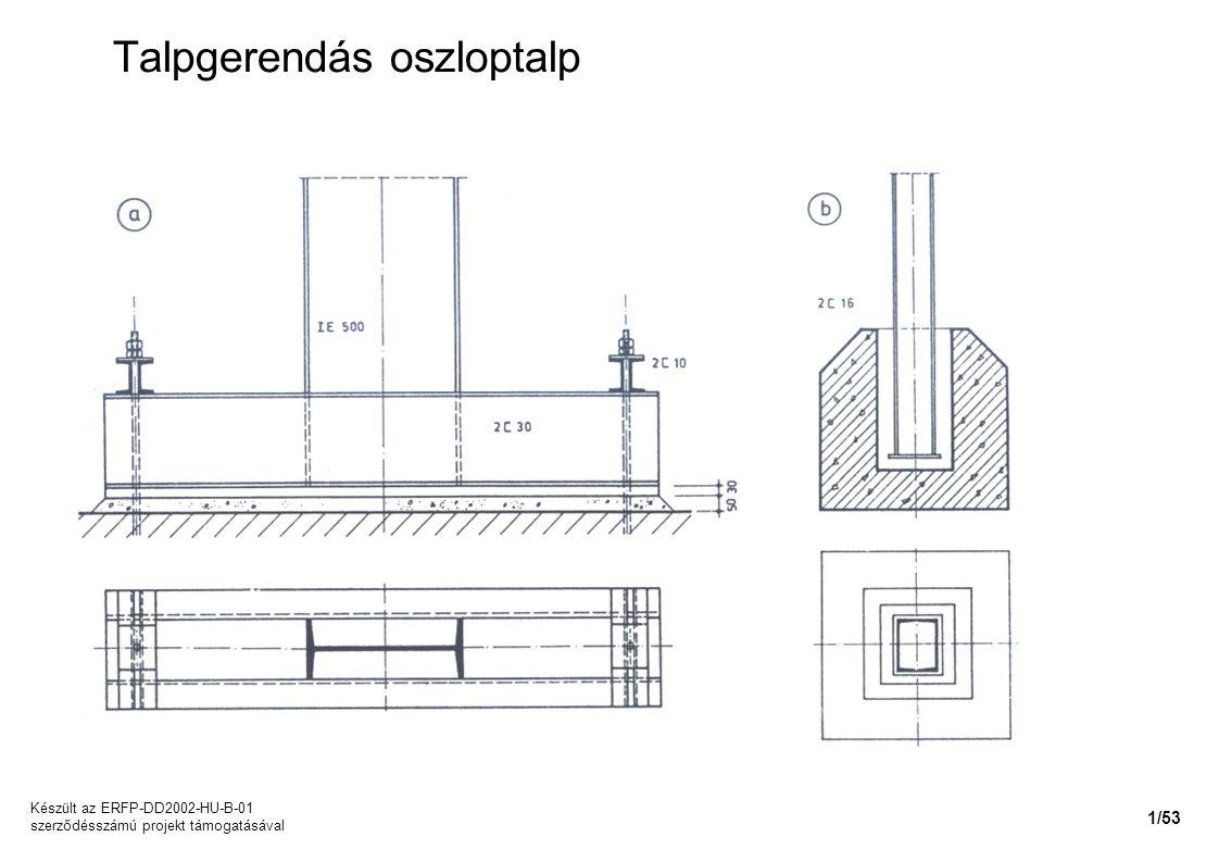 Talpgerendás oszloptalp Készült az ERFP-DD2002-HU-B-01 szerződésszámú projekt támogatásával 1/53