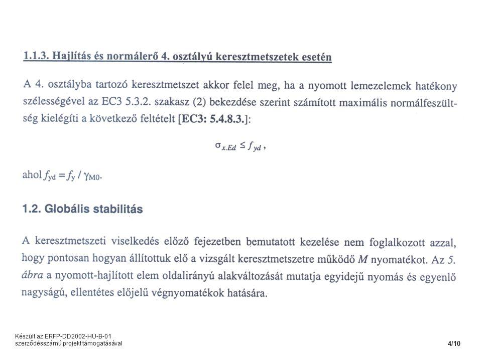 Készült az ERFP-DD2002-HU-B-01 szerződésszámú projekt támogatásával 4/10