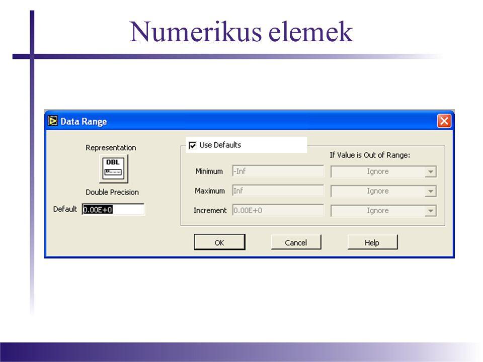 Műveletek numerikus elemekkel
