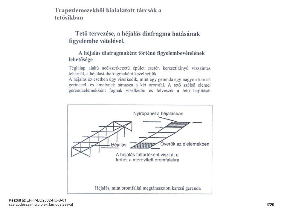 Készült az ERFP-DD2002-HU-B-01 szerződésszámú projekt támogatásával 6/20