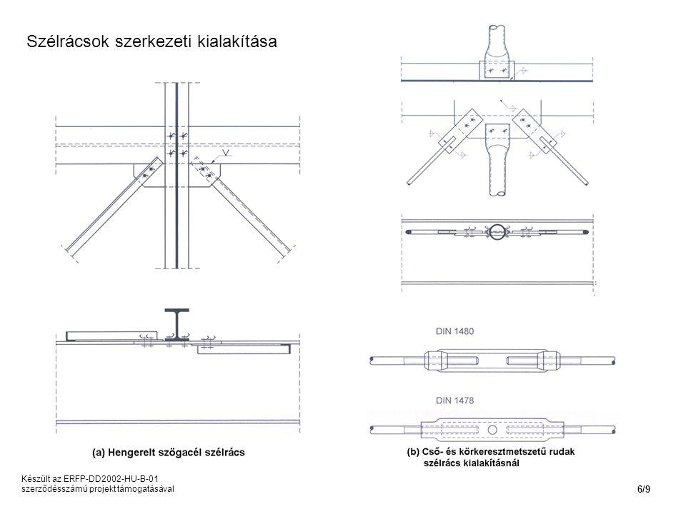 Készült az ERFP-DD2002-HU-B-01 szerződésszámú projekt támogatásával 6/9 Szélrácsok szerkezeti kialakítása