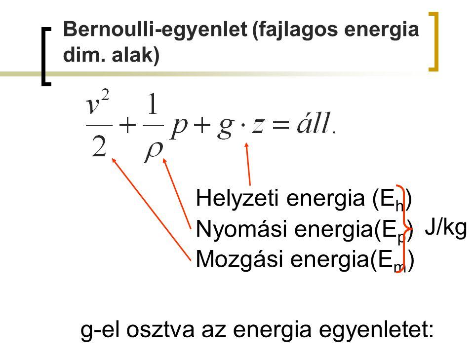 Bernoulli-egyenlet (mag.dim.