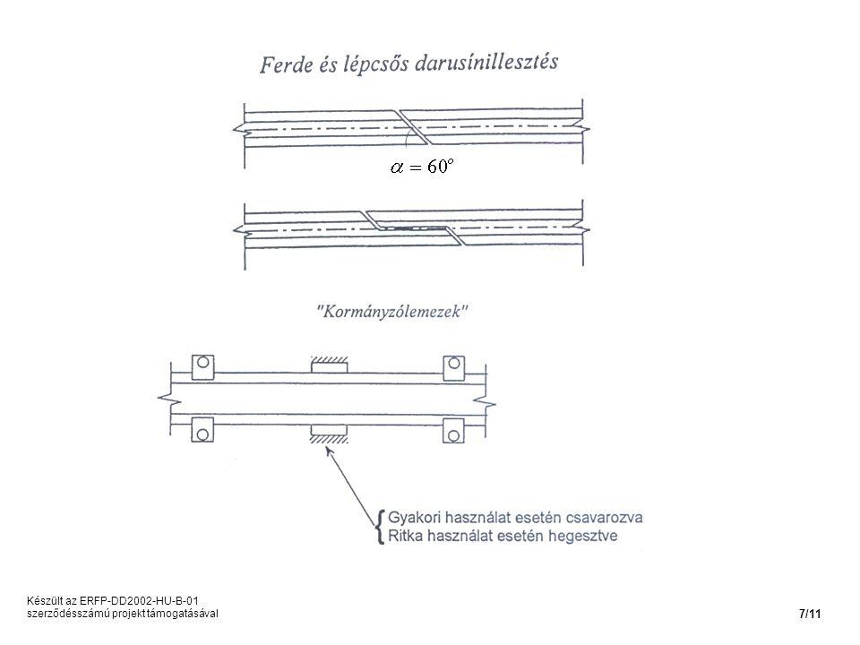 Készült az ERFP-DD2002-HU-B-01 szerződésszámú projekt támogatásával 7/11