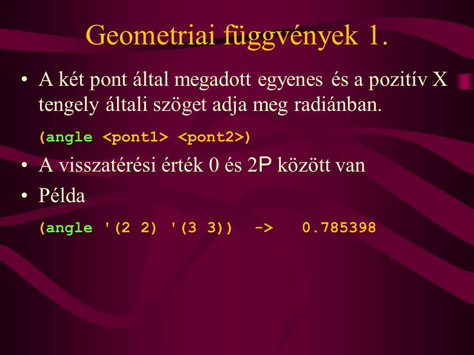 Geometriai függvények 1.