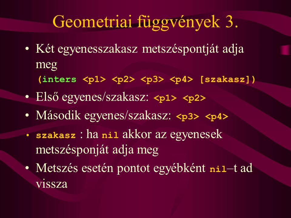 Geometriai függvények 3.