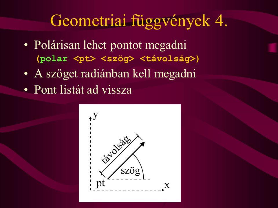 Geometriai függvények 4.