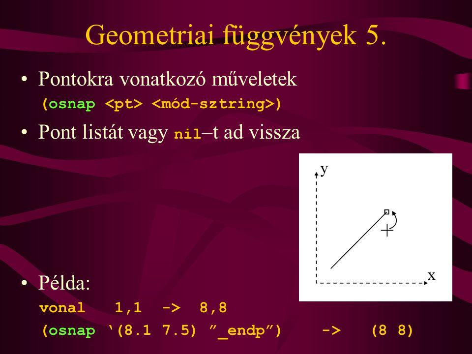Geometriai függvények 5.