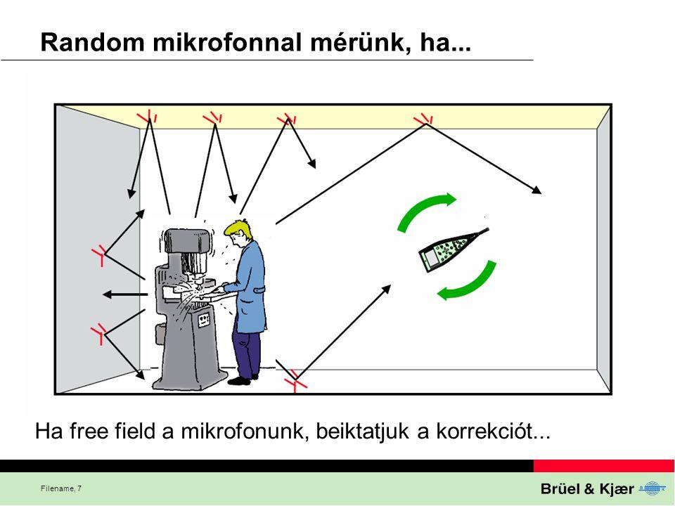 Filename, 7 Random mikrofonnal mérünk, ha... Ha free field a mikrofonunk, beiktatjuk a korrekciót...