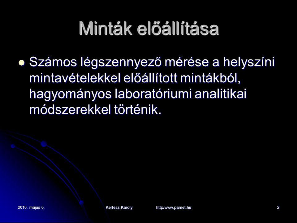 2010. május 6.Kertész Károly http/www.pamet.hu3 Mintavételi sémák-1 Toxikus fémek