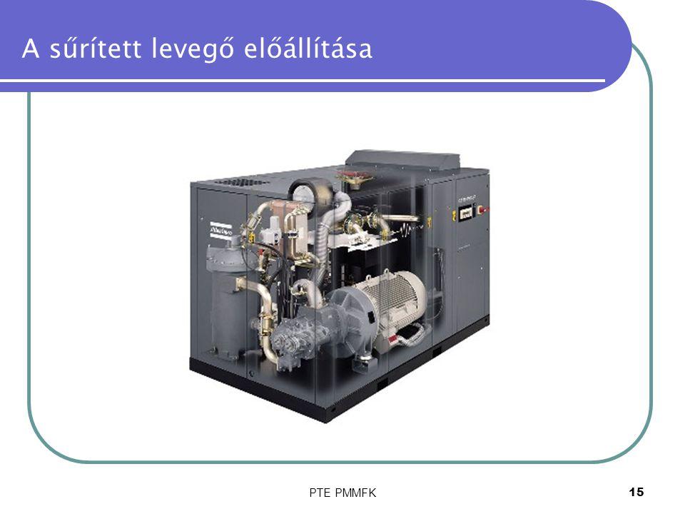 PTE PMMFK15 A sűrített levegő előállítása
