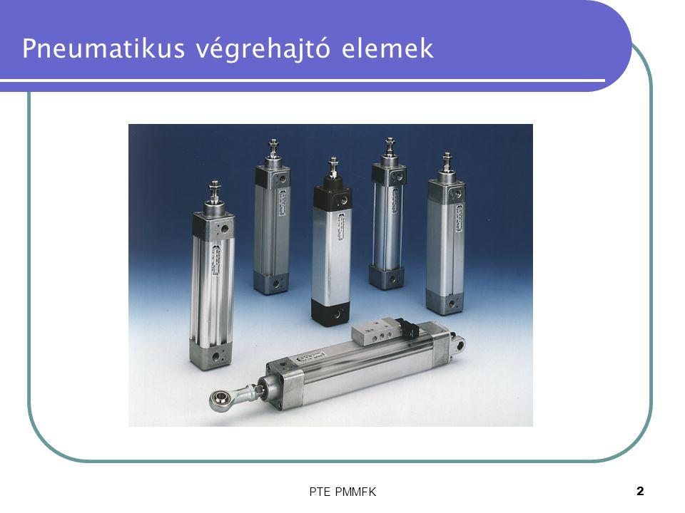 PTE PMMFK23 Pneumatikus végrehajtó elemek A hengerek beépítése néhány példa(kép)