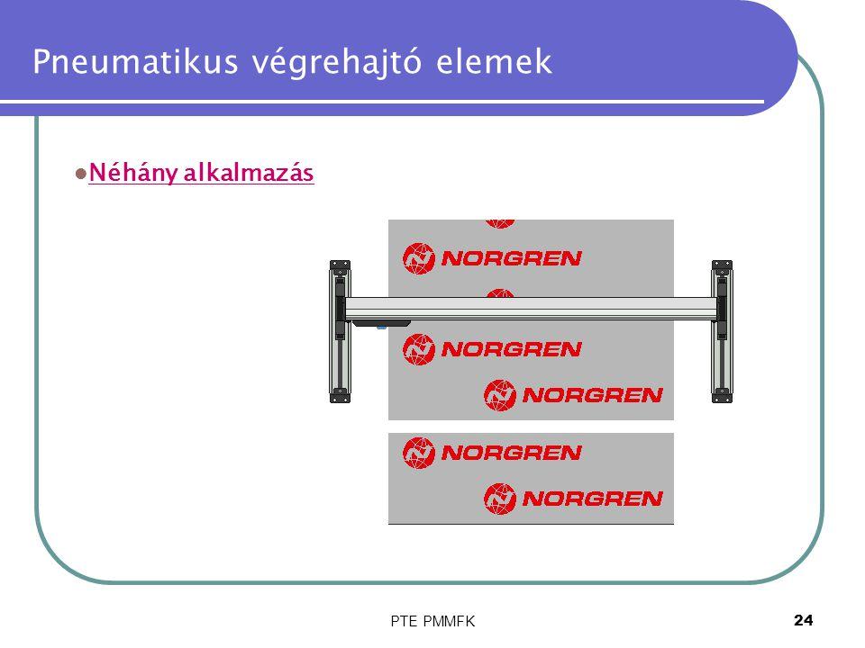 PTE PMMFK24 Pneumatikus végrehajtó elemek Néhány alkalmazás