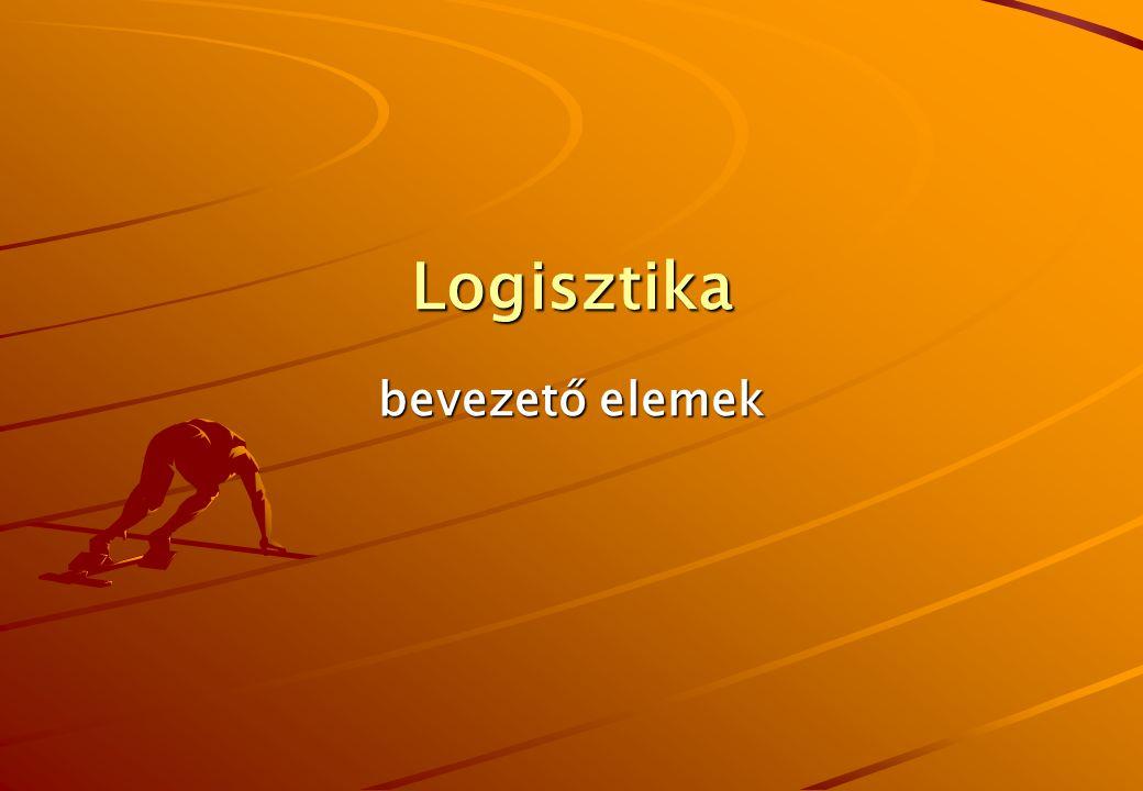 Logisztika bevezető elemek