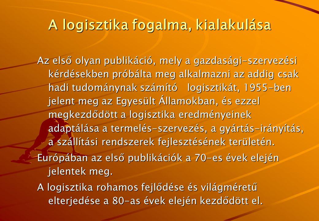 A logisztika fogalma, kialakulása A logisztika szó egyébként feltehetőleg görög eredetű, és a