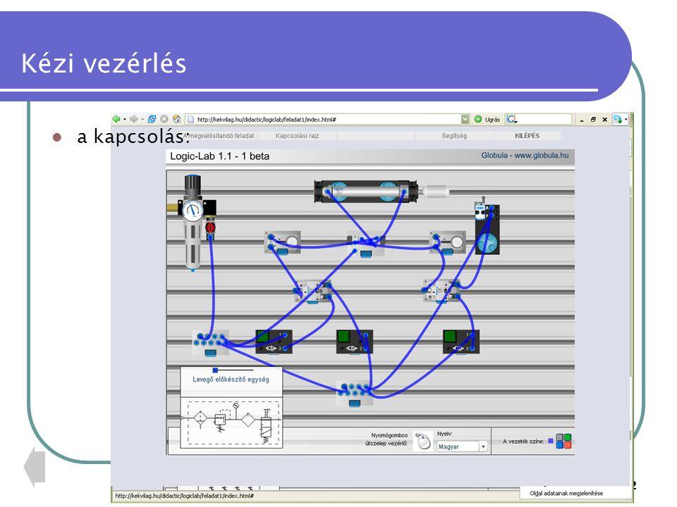 """PTE PMMFK33 Út-függő vezérlés a dugattyú önműködően visszavezérelhető adott út megtétele után a rajzon a henger az """"A jelet, a vezérlő szelep az """"a1 jelet kapja az """"a1 szelepet a dugattyú, vagy a mozgatott tárgy működteti 14 1 2 3 12 10 1 2 3 12 10 + - A a1 1 24 53 12 +-"""