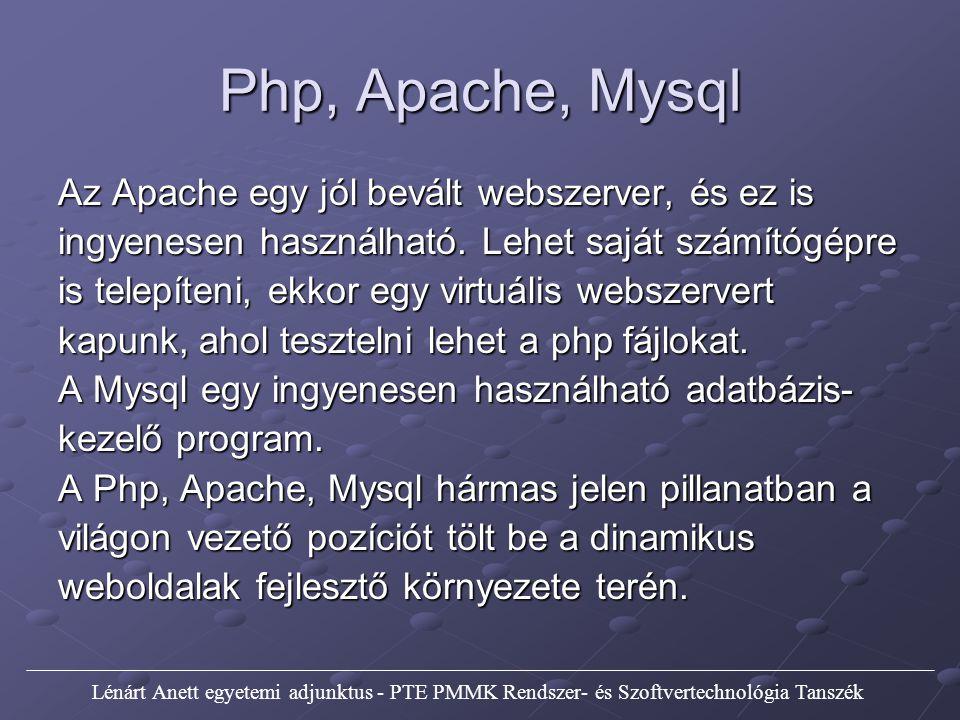 Vezérlési szerkezetek Egymásba ágyazott ciklusok Példa: php5.php és a php5.css fájlokban.