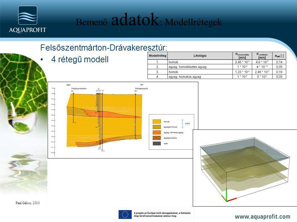 Bemenő adatok : Modellrétegek Felsőszentmárton-Drávakeresztúr: 4 rétegű modell Paál Gábor, 2010
