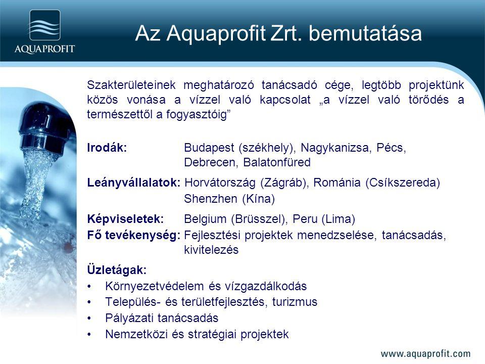 """Az Aquaprofit Zrt. bemutatása Szakterületeinek meghatározó tanácsadó cége, legtöbb projektünk közös vonása a vízzel való kapcsolat """"a vízzel való törő"""