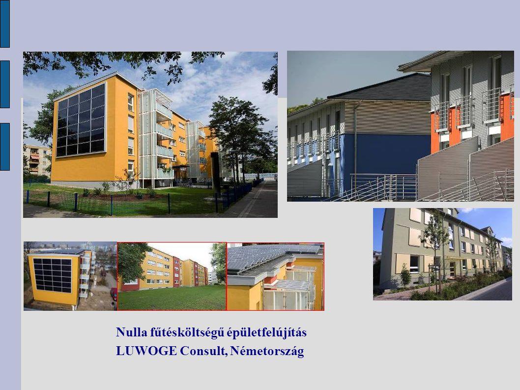 Nulla fűtésköltségű épületfelújítás LUWOGE Consult, Németország