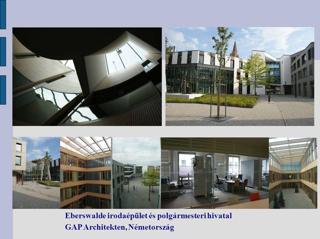 Eberswalde irodaépület és polgármesteri hivatal GAP Architekten, Németország