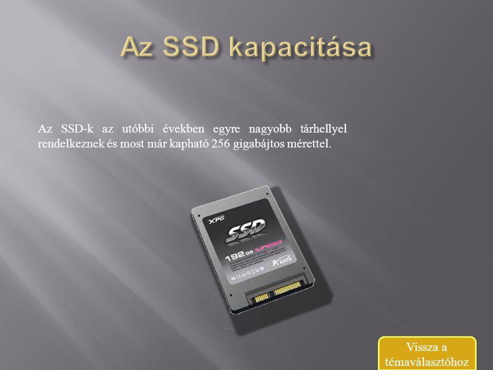 Az SSD-k az utóbbi években egyre nagyobb tárhellyel rendelkeznek és most már kapható 256 gigabájtos mérettel.