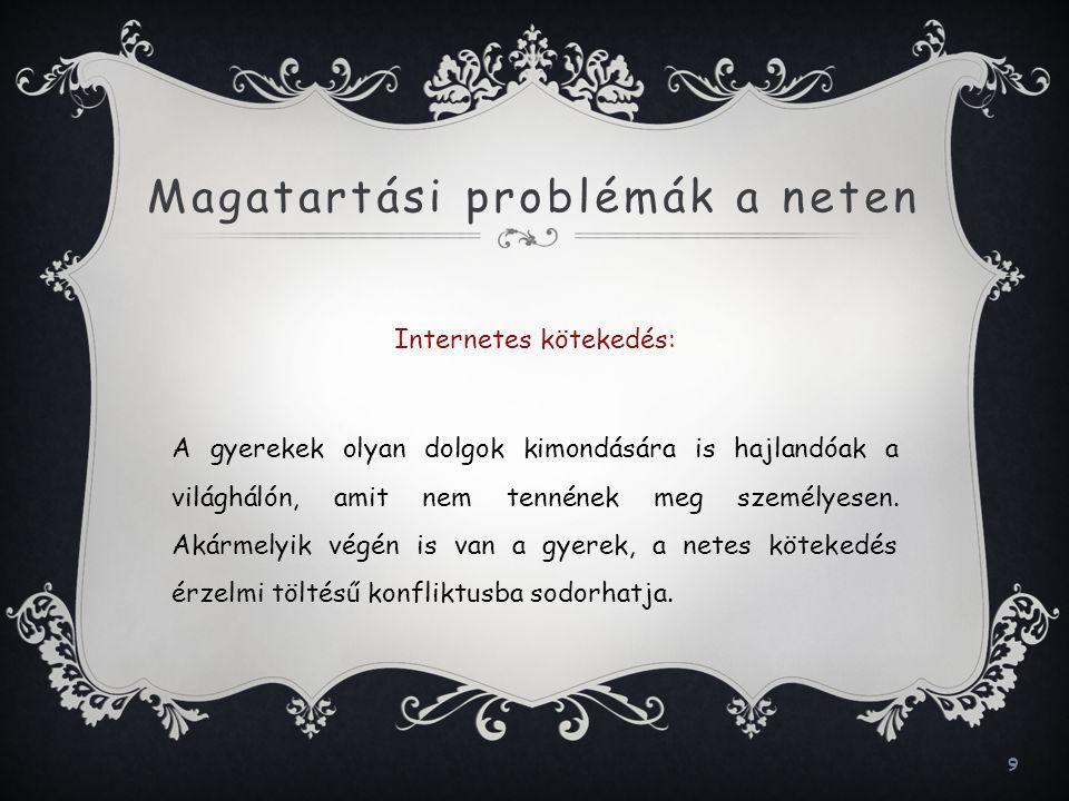 20 Források  http://www.natursziget.com/egeszseg/20100408-az-online-elet-veszelyei (2011.