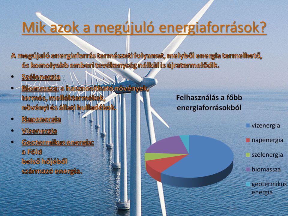 Mik azok a megújuló energiaforrások?