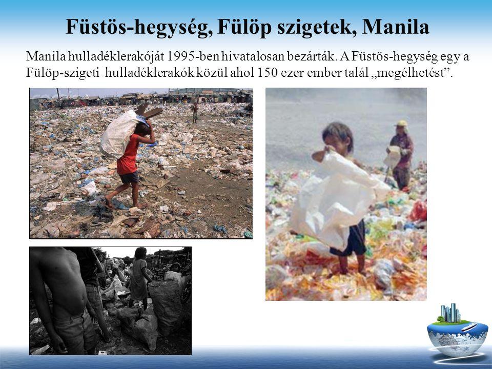 Füstös-hegység, Fülöp szigetek, Manila Manila hulladéklerakóját 1995-ben hivatalosan bezárták. A Füstös-hegység egy a Fülöp-szigeti hulladéklerakók kö