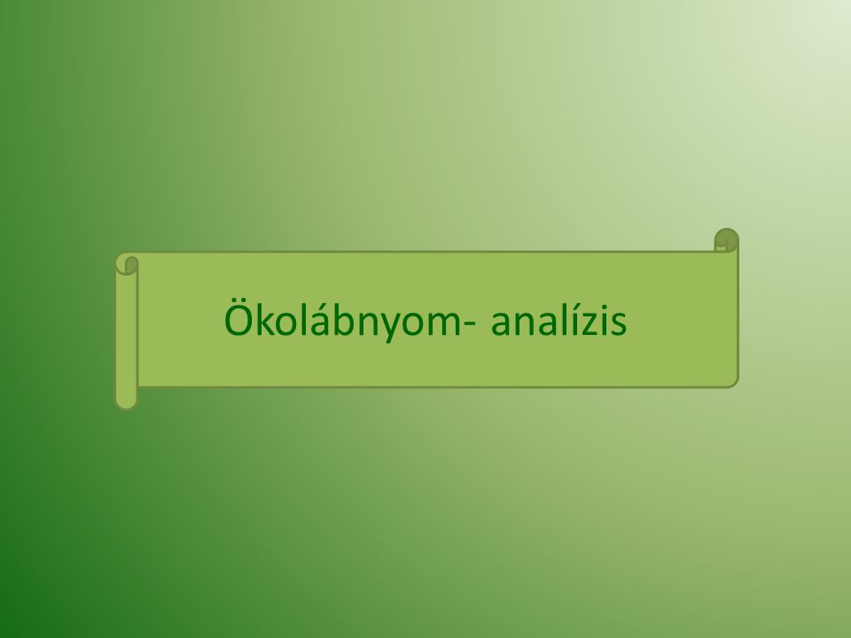 Ökolábnyom- analízis