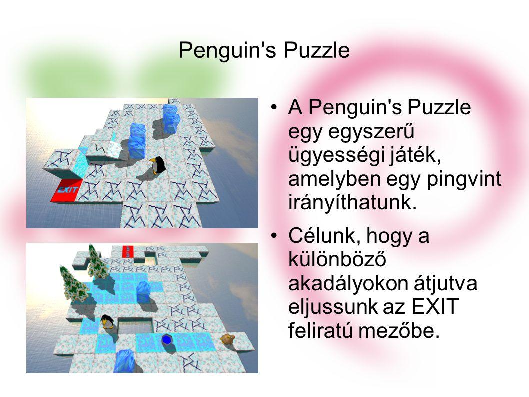 Penguin s Puzzle A Penguin s Puzzle egy egyszerű ügyességi játék, amelyben egy pingvint irányíthatunk.