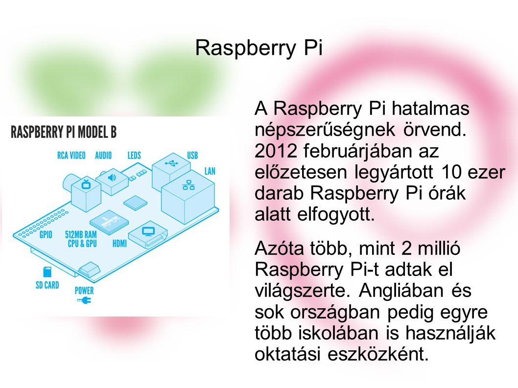 Raspberry Pi A Raspberry Pi hatalmas népszerűségnek örvend.