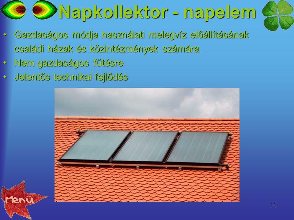 11 Gazdaságos módja használati melegvíz előállításánakGazdaságos módja használati melegvíz előállításának családi házak és közintézmények számára Nem